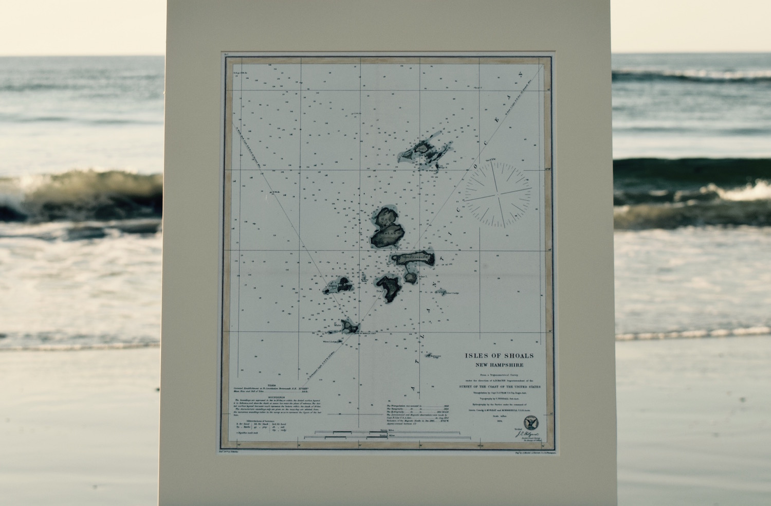 Antique Nautical Chart Isles of Shoals