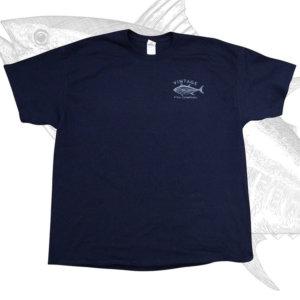 Vintage Fish Company Logo T-Shirt, Navy Blue