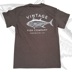 Vintage Fish Company Logo T-Shirt, Chocolate Brown