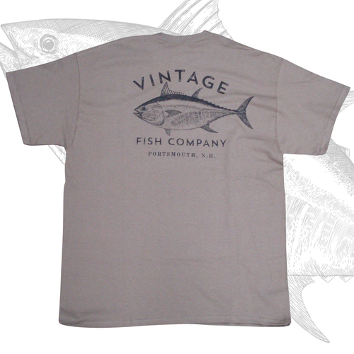 Logo t shirt vintage fish company limited discontinued for Vintage t shirt company